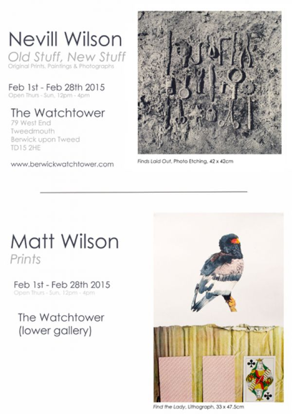 Father and son artist exhibition at Berwick Watchtower