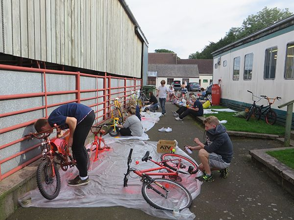 Paint party as Wooler prepares to welcome Aviva Tour of Britain
