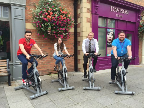 Arcade team take on the Tour of Britain – without leaving Morpeth!