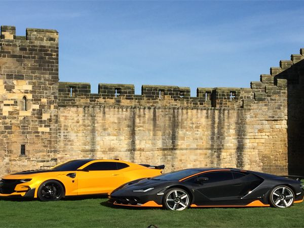 Transformers take over Alnwick Castle