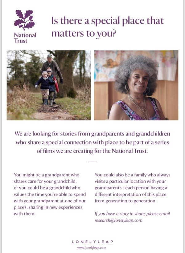 Casting for National Trust Film - Is there a special place that matters to you?