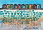 Blyth Beach Huts get a brand-new look for 12 hours only