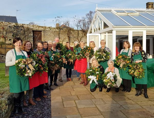Deck the halls at Battlesteads Christmas Wreath Workshops