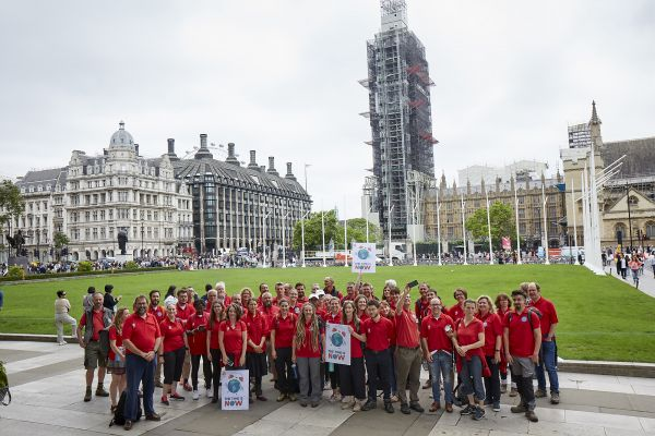 Wildlife rangers from the North urge MPs for change at huge nature and climate event outside Parliament