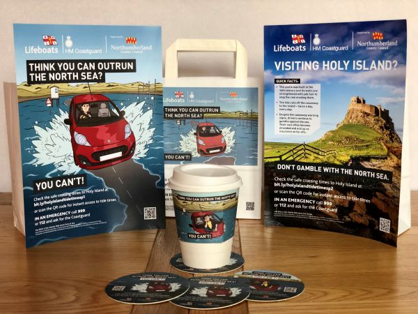 RNLI calls on tourism industry to spread Holy Island safety message