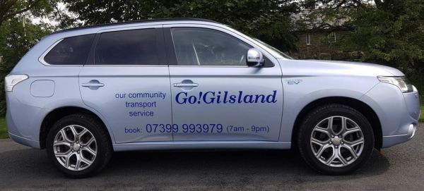 Official launch of the GoGilsland sustainable community transport project.