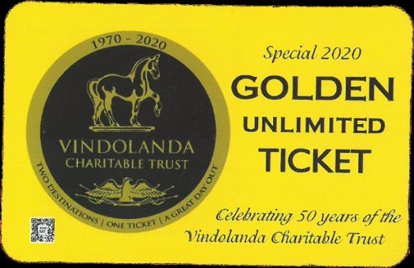 New Golden Tickets launched to celebrate The Vindolanda Trust turning 50!