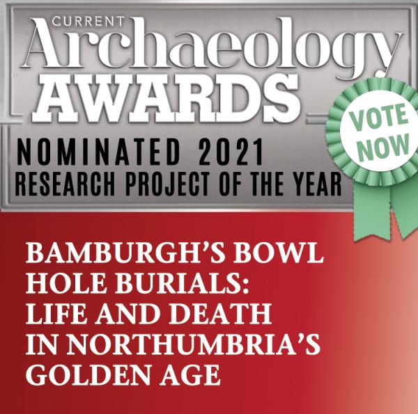 Bamburgh Bones nominated for Current Archaeology National Award