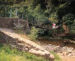 The 'wobbly bridge' at Allen Banks